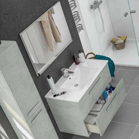 Mueble baño con espejo Cemento. Lavamanos Opcional