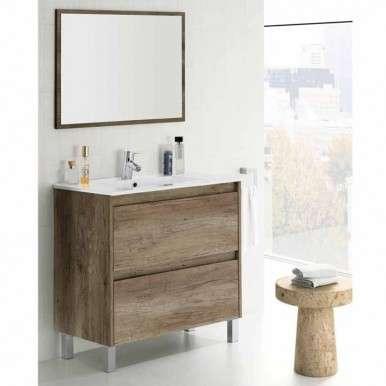 Mueble de baño y espejo sin...