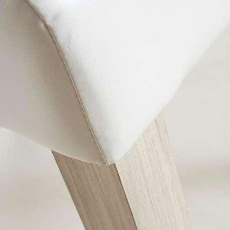 Silla polipiel blanca