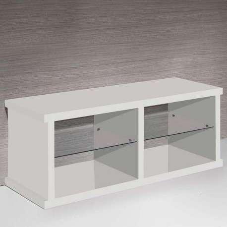 Mesa TV diseño contemporáneo blanca