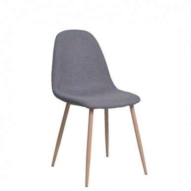 Silla tapizada color gris