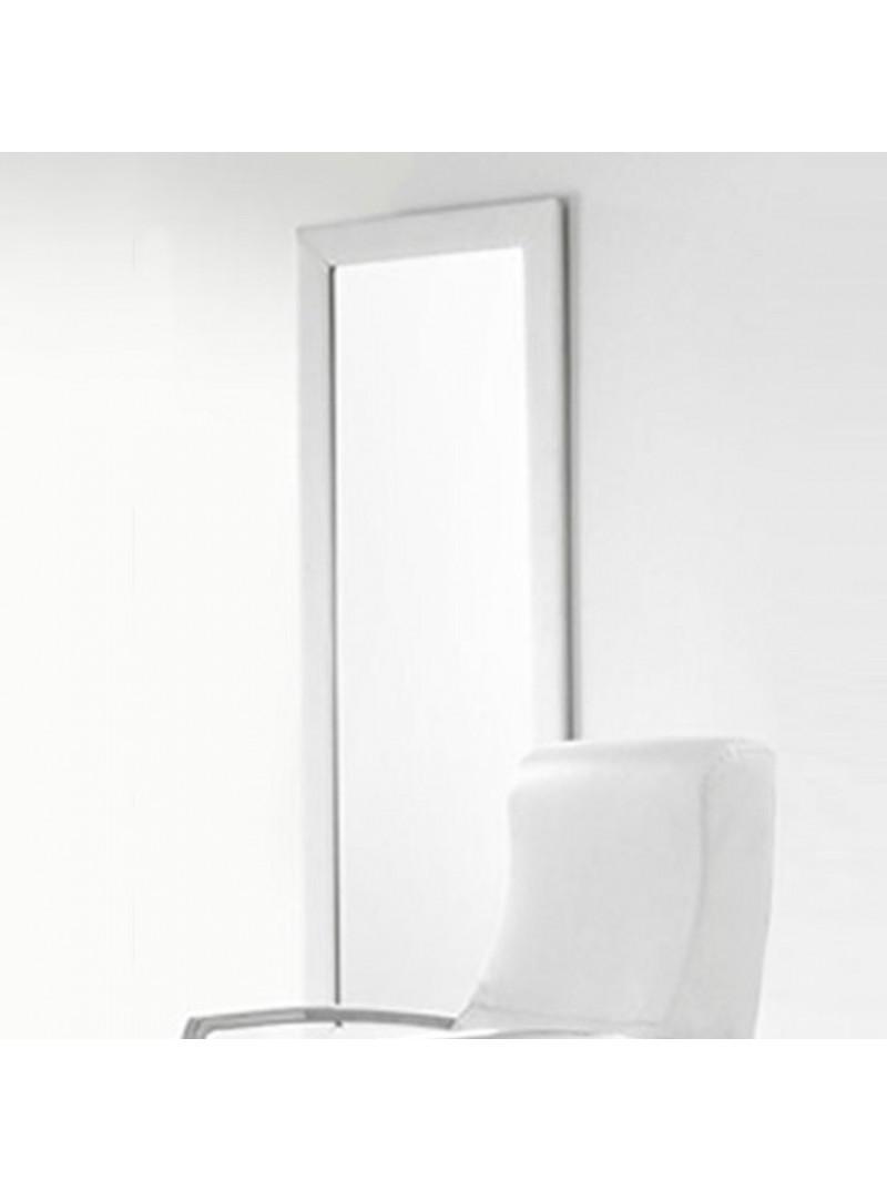 Espejo tapizado blanco