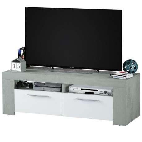 Mesa TV Cemento estilo industrial