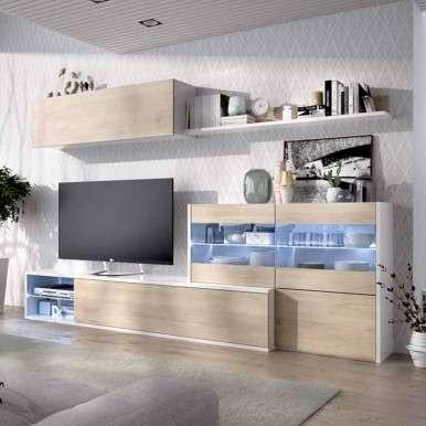 Mueble salon moderno luz...