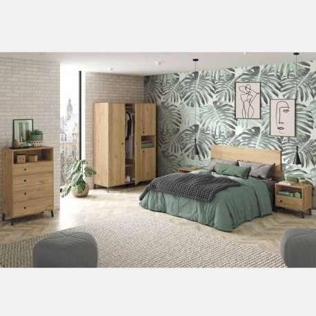 Cómoda dormitorio nórdica con patas.