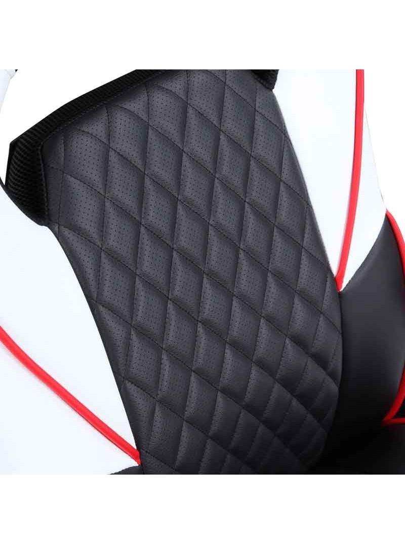 Silla Gamer diseño Rally negra/blanco