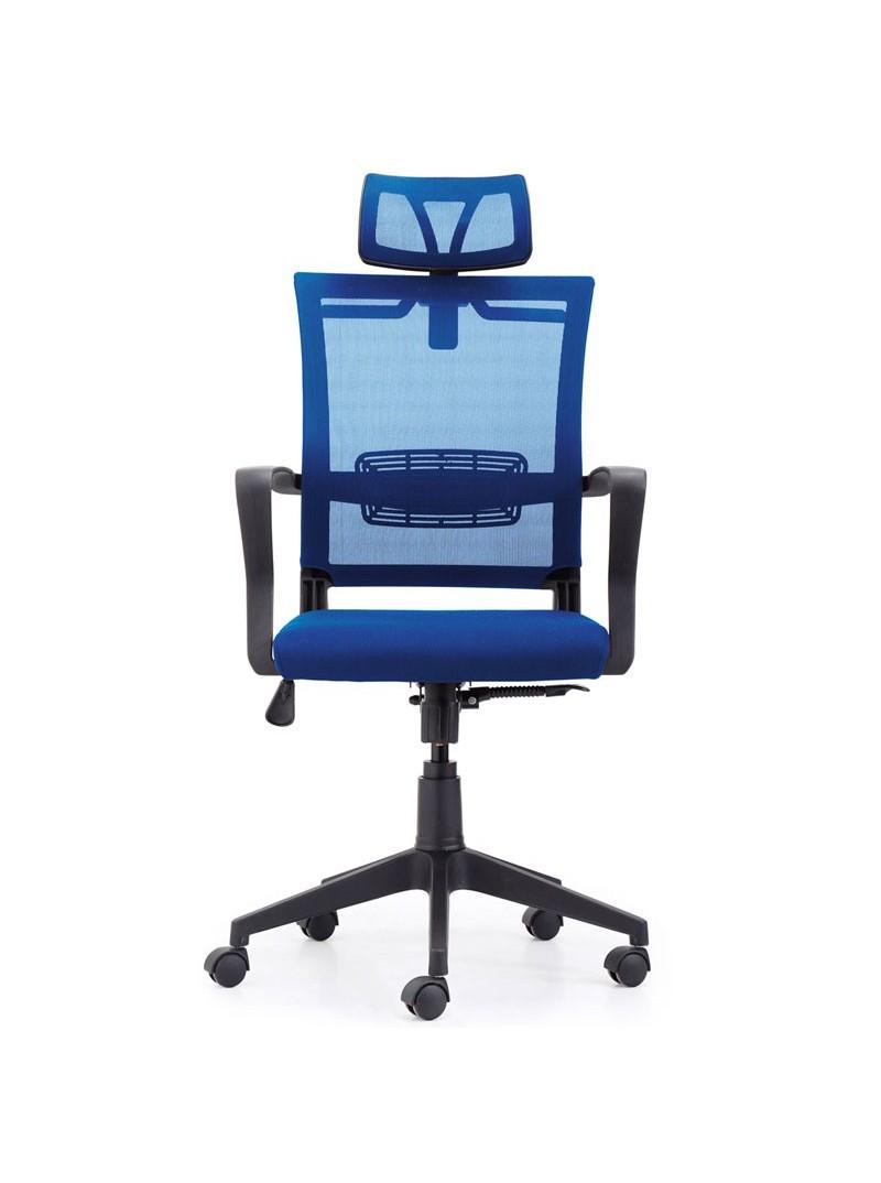 Silla para oficina ergonómica azul