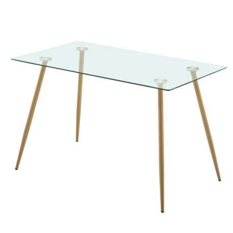 Mesa comedor cristal Asper estilo nórdico