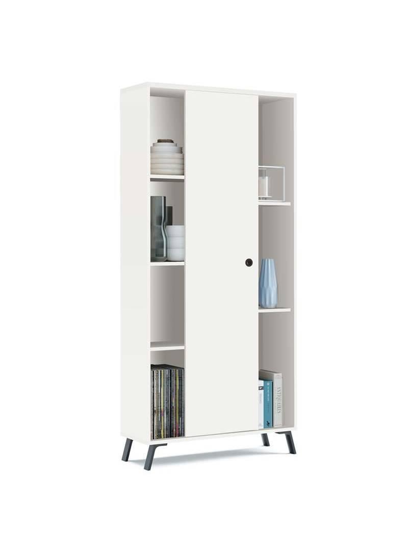 Librería blanca Kamet salón oficina