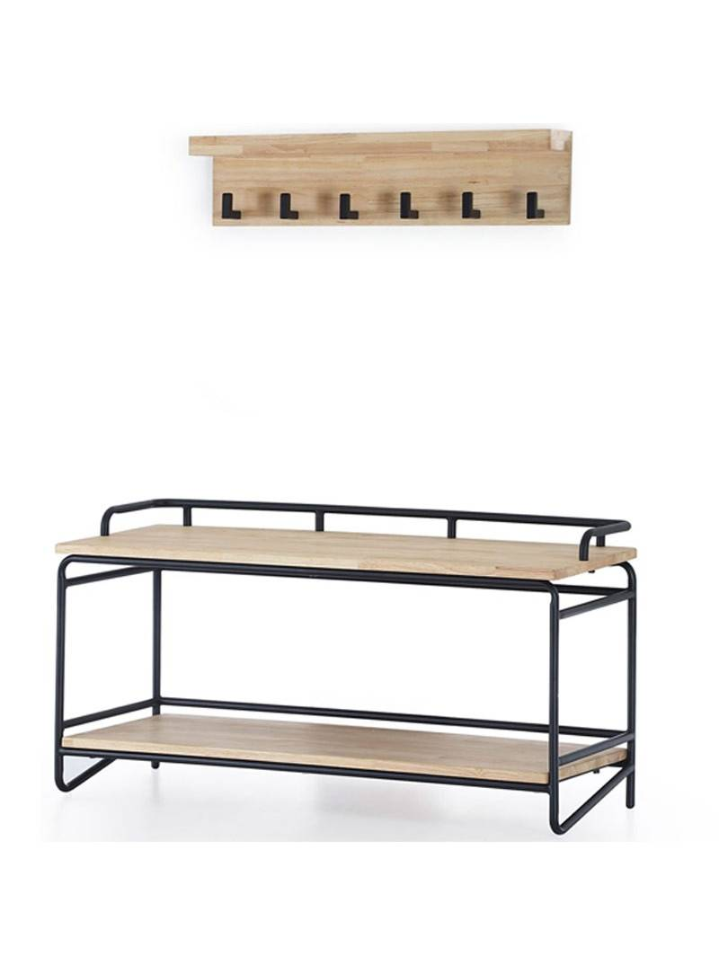 Perchero Plank roble industrial