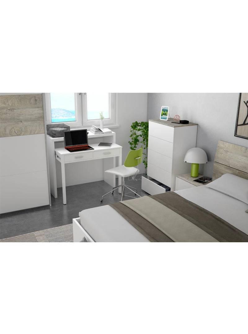 Comoda Aikos 5 cajones color blanco artik