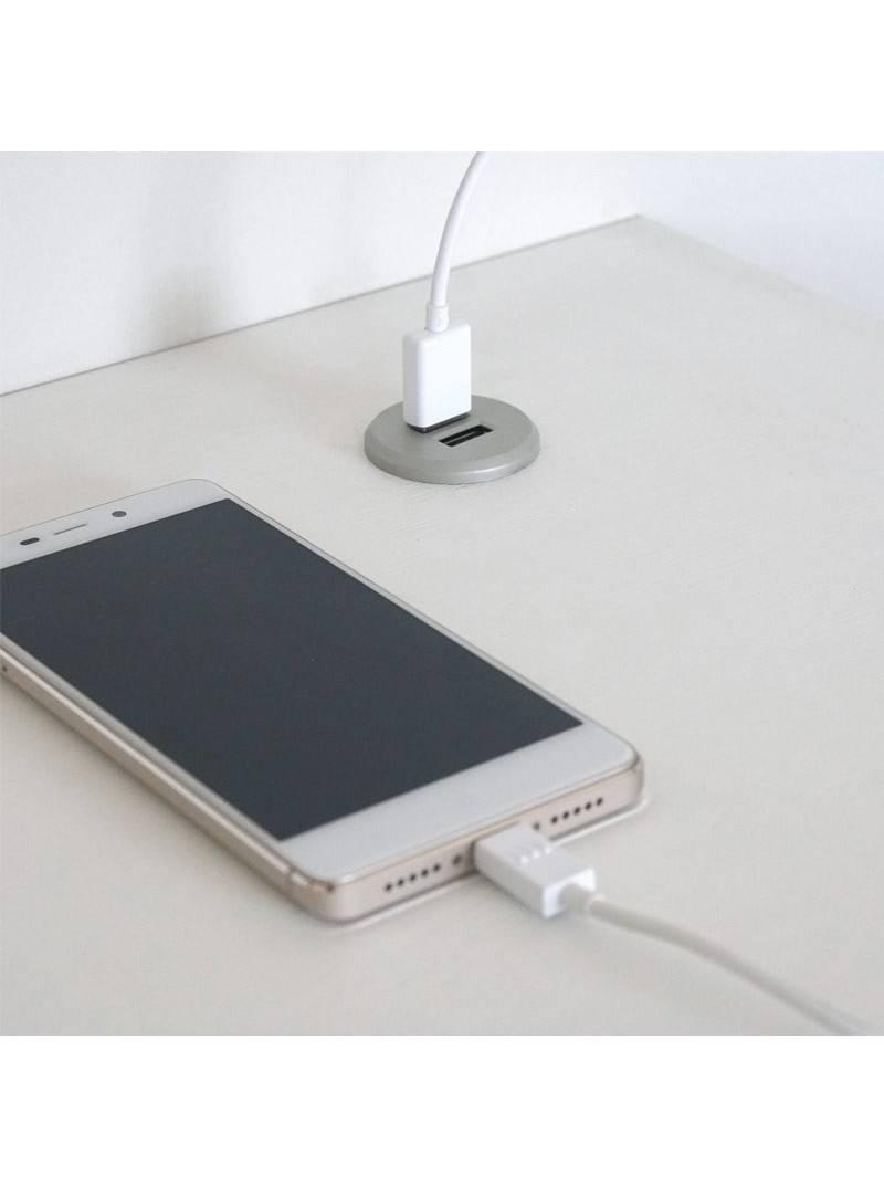 Mesa escritorio blanca Nexus puertos USB