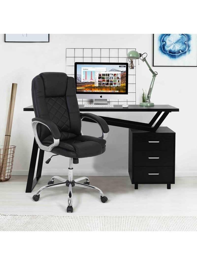 Silla oficina Tango en negro giratoria
