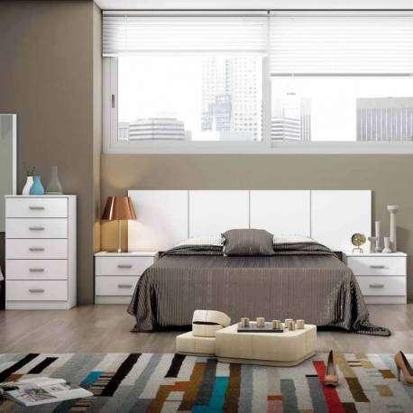 Conjunto dormitorio matrimonio Couple color blanco