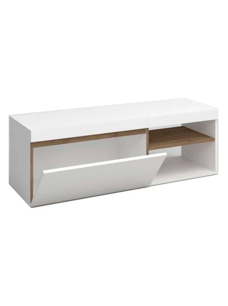 Mesa de TV Elis color blanco y naturale