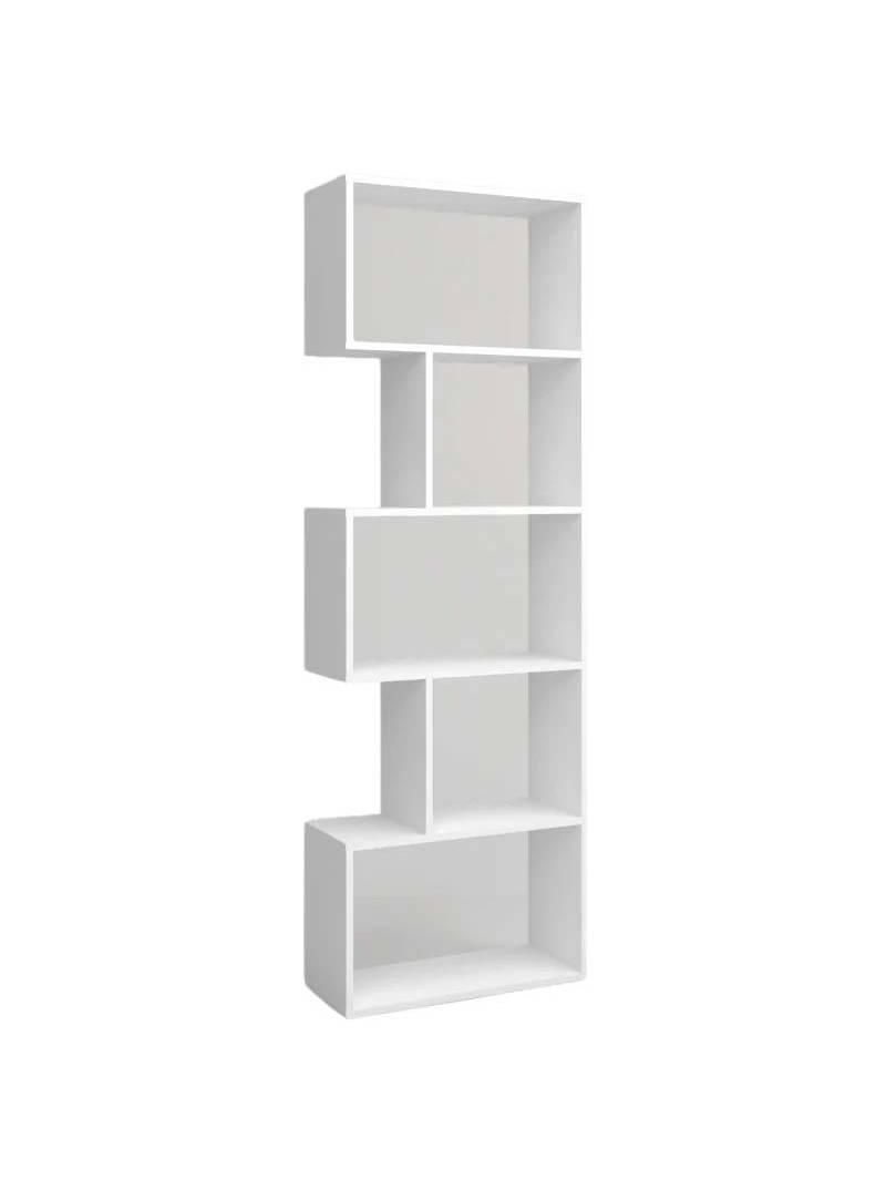 Librería Neón 5 estantes color blanco mate