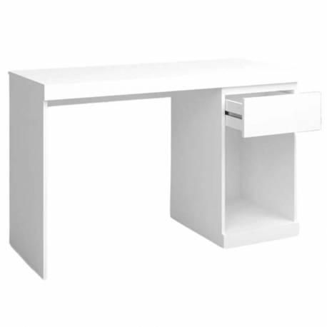 Conjunto oficina estudio escritorio + estantería blanco mate