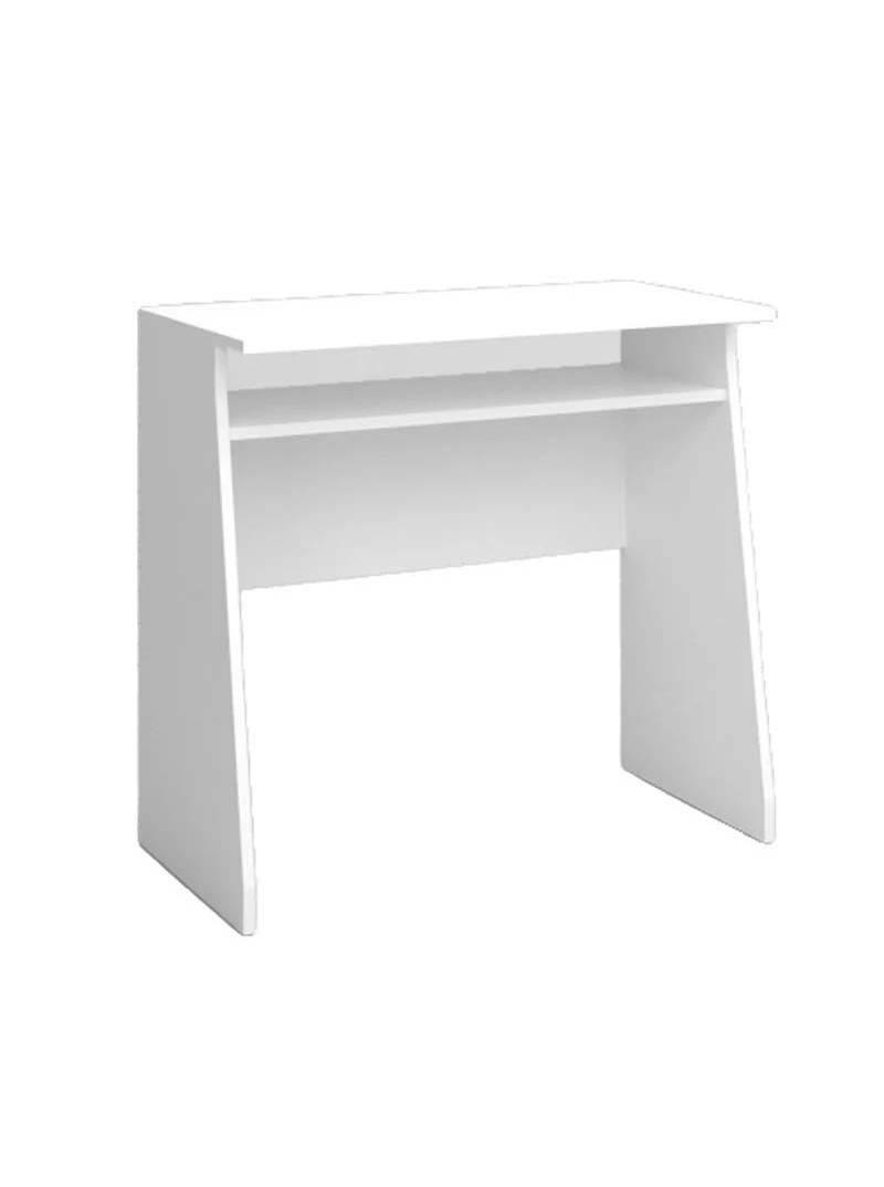 Pack estudio blanco mate estantería + escritorio