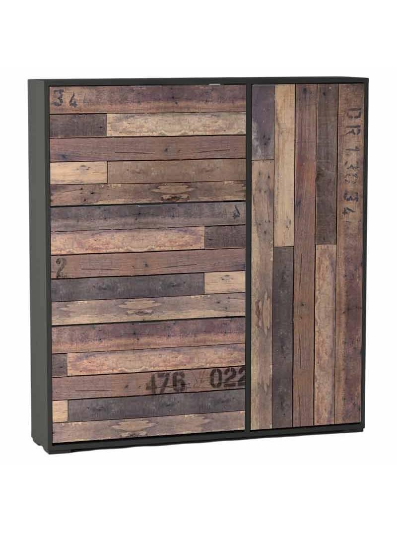 Mueble zapatero 3 puertas abatibles 1 armario