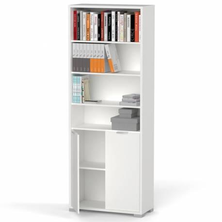 Librería Boston 1 armario color blanco