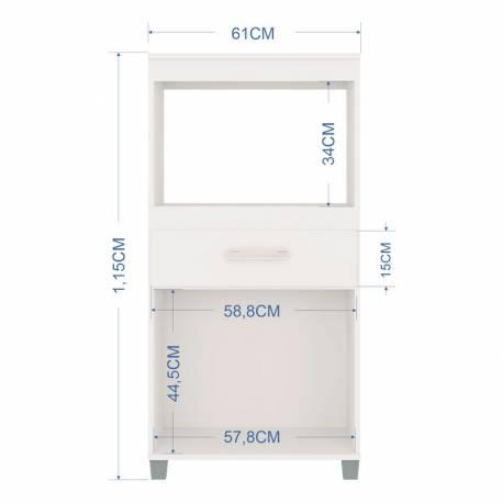Mueble de microondas Lusaka 2 puertas 1 cajón