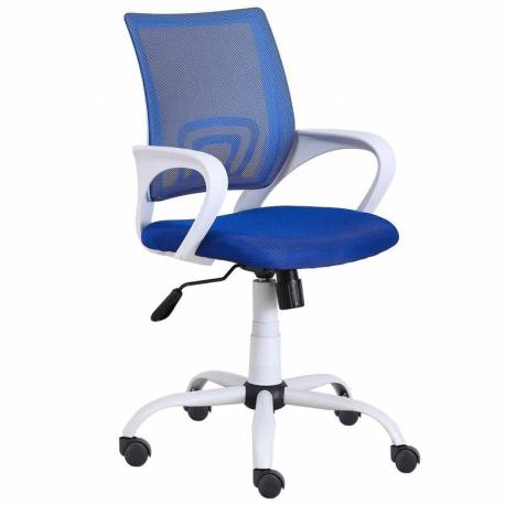 Silla escritorio juvenil Studio color azul transpirable