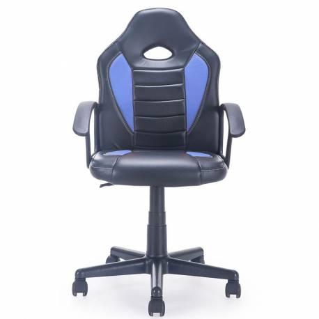 Silla gamer You color negro/azul giratoria regulable