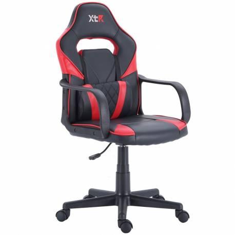 Sillón gaming XTR X10 color negro/rojo altura regulable