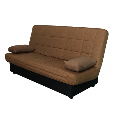 Sofa cama nacional marrón.