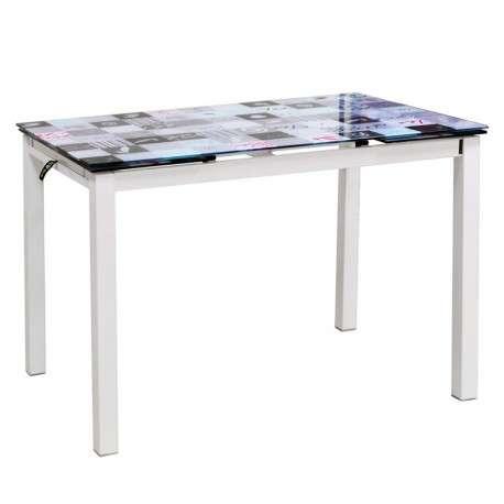 Mesa de cocina extensible 814429
