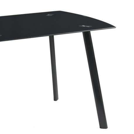 Mesa cristal Algar color negro