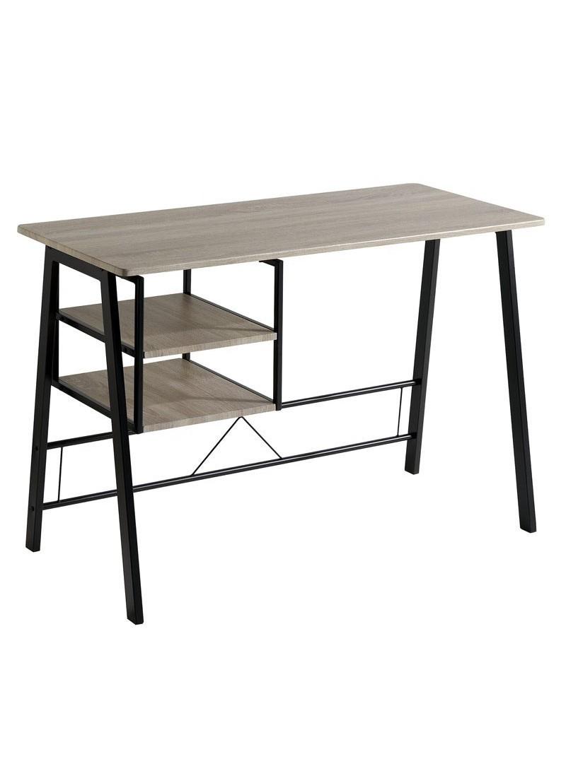 Mesa escritorio Eibar metal negro y roble