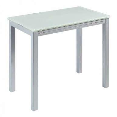 Mesa cristal blanco puro...