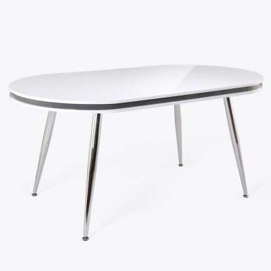 Mesa comedor ovalada blanca...