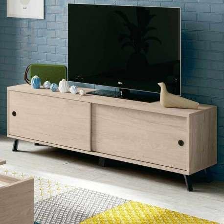 Mueble TV salón Kam color roble