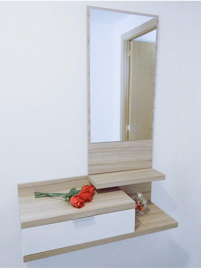 Recibidor con espejo 81 x 116 cm.