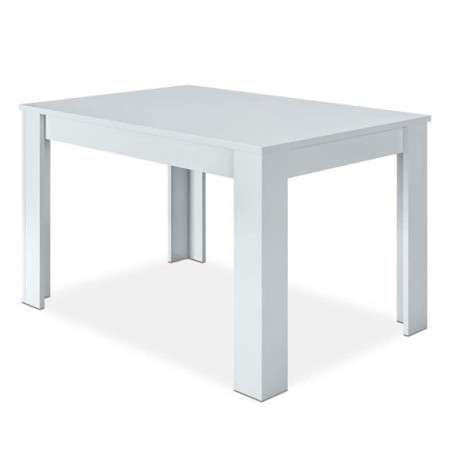 Mesa extensible blanco mate