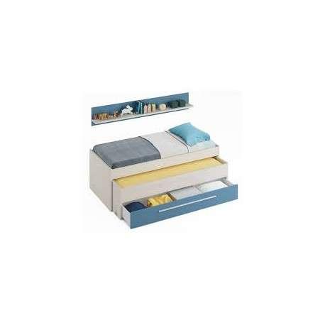 Pack dormitorio juvenil azul.